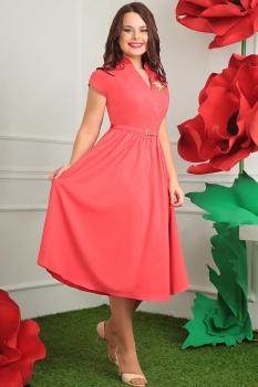 Платье Мода-Юрс 2394 коралл