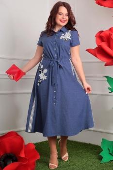 Платье Мода-Юрс 2405 темный джинс