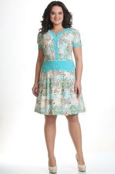 Платье Moda-Versal 1429 голубые тона