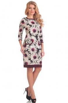 Платье Moda-Versal 1487-1 красные ромашки