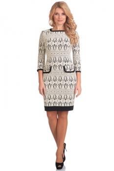 Платье Moda-Versal 1487 черно-белый