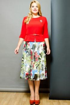 Платье Moda-Versal 1638-1 красные тона