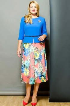 Платье Moda-Versal 1638 василёк