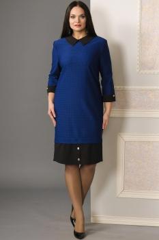 Платье Moda-Versal 1677-1 синие тона