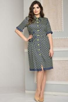 Платье Moda-Versal 1717-1 желтые горошки