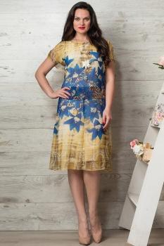 Платье Moda-Versal 1759-1 желтые тона