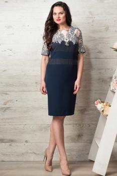 Платье Moda-Versal 1763 темно-синий