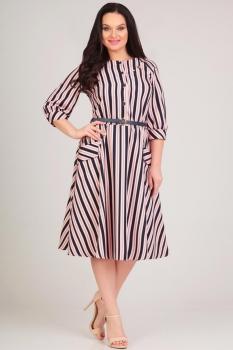 Платье Moda-Versal 1776 розовая полоска