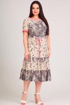 Платье Moda-Versal 1890-1 серые узоры