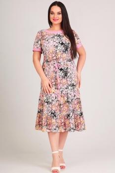 Платье Moda-Versal 1890 розовые цветы