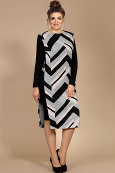 Платье Мублиз 163 черный с серым