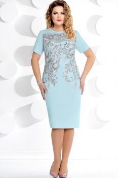 Платье Мублиз 210-1 голубой