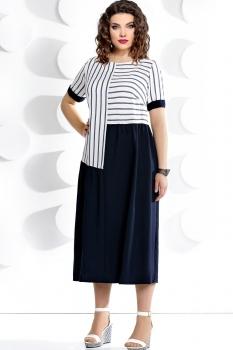 Платье Мублиз 232 белый с синим