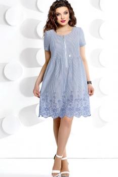 Платье Мублиз 234 серо-голубой