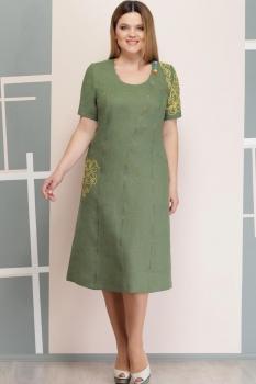 Платье Надин-Н 1206-3 зелёный