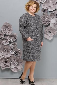 Пальто Надин-Н 1220-10 серый