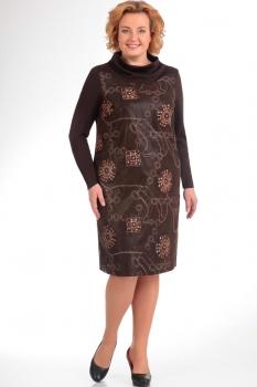 Платье Надин-Н 1341-1 коричневый