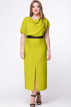 Платье Надин-Н 1364 оливка