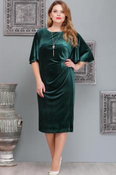 Платье Надин-Н 1411-1 изумруд