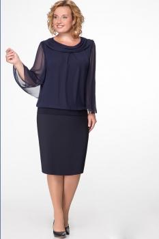 Платье Надин-Н 1425 тёмно-синий