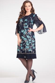 Платье Надин-Н 1464 тёмно-синий, бирюза