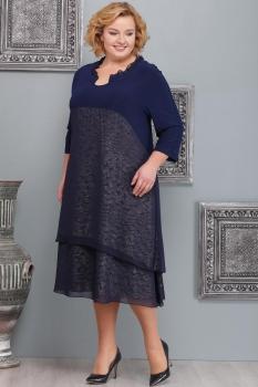 Платье Надин-Н 1473-1 тёмно-синий