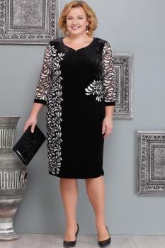 Платье Надин-Н 1474 чёрный с белым