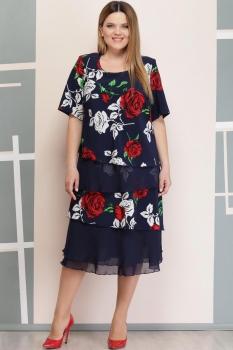 Платье Надин-Н 1497-2 тёмно-синий