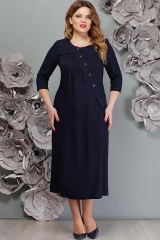 Платье Надин-Н 1511 тёмно-синий
