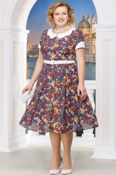 Платье Ninele 1215-17 красные-цветы