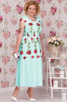 Платье Ninele 2104 бирюзовые-тона