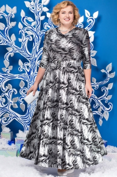 Платье Ninele 2129 перья