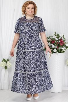 Платье Ninele 2151-2 синие-ромашки
