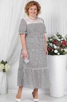 Платье Ninele 2151 черный+горохи