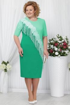 Платье Ninele 2152-2 зеленый+светло-зеленый
