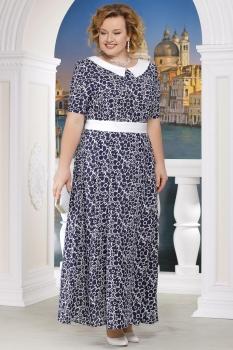 Платье Ninele 295-3 синий+ромашки