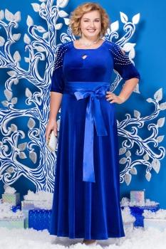 Платье Ninele 5485-5 васильковый