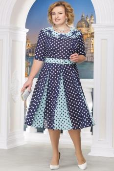 Платье Ninele 5521-3 синие-горхи
