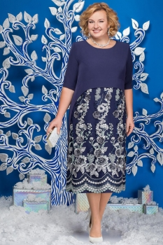 Платье Ninele 5565-2 темно-синий