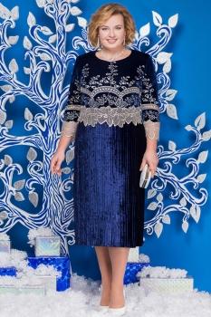 Платье Ninele 5578-3 синий+золото