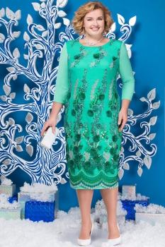 Платье Ninele 5583-2 зеленые-тона
