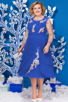 Платье Ninele 5586-1 васильковый