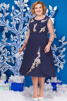 Платье Ninele 5586 синий