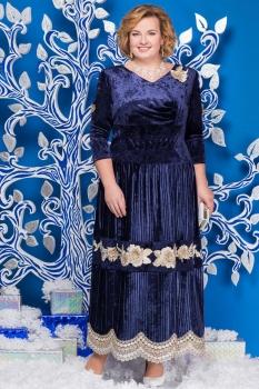 Платье Ninele 5597 синий
