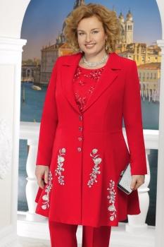 Жакет Ninele 5611-8 красный+цветы