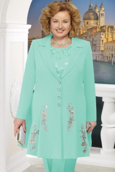 Жакет Ninele 5611 светло-зеленый+цветы