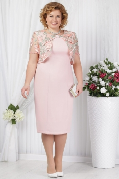 Платье Ninele 5621 пудра