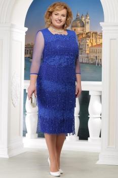 Платье Ninele 5622 васильковый
