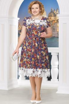 Платье Ninele 754-6 красные-цветы