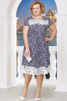 Платье Ninele 754-8 синие-ромашки
